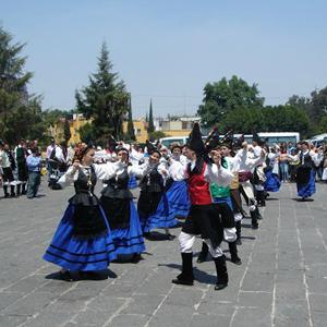 Visita del centro gallego de México 2009