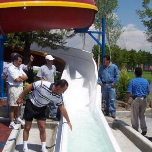 Inauguración del tobogán 2007