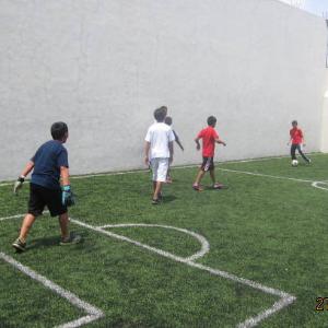 Inauguración cancha de minifútbol 2013