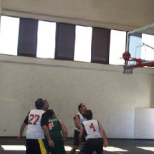 Basquetbol partido amistoso de veteranos 2010