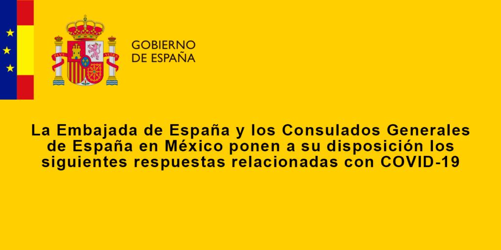 Embajada de España – Preguntas Frecuentes sobre COVID